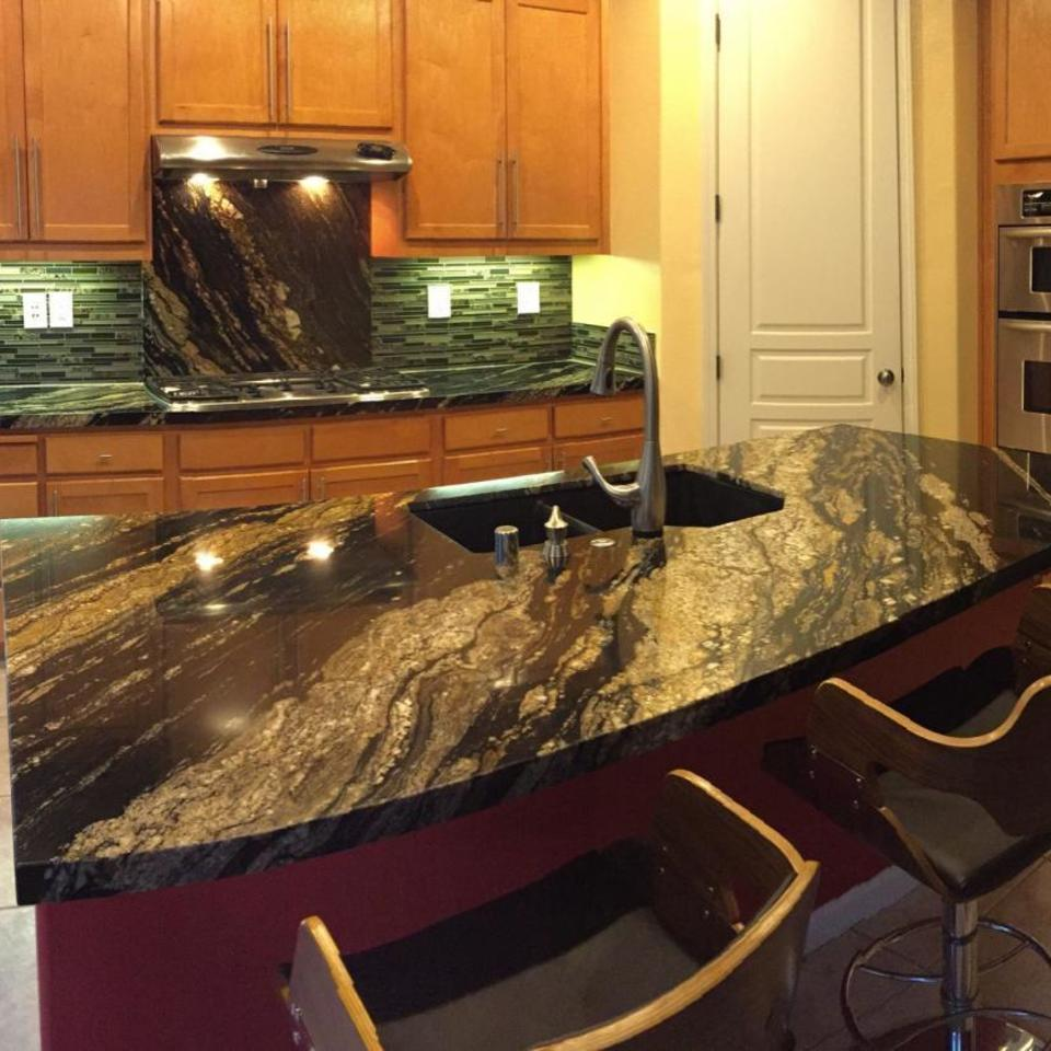 Kitchen countertops black and gold granite tile backsplash.300110848 large20161021 19320 113bfdg