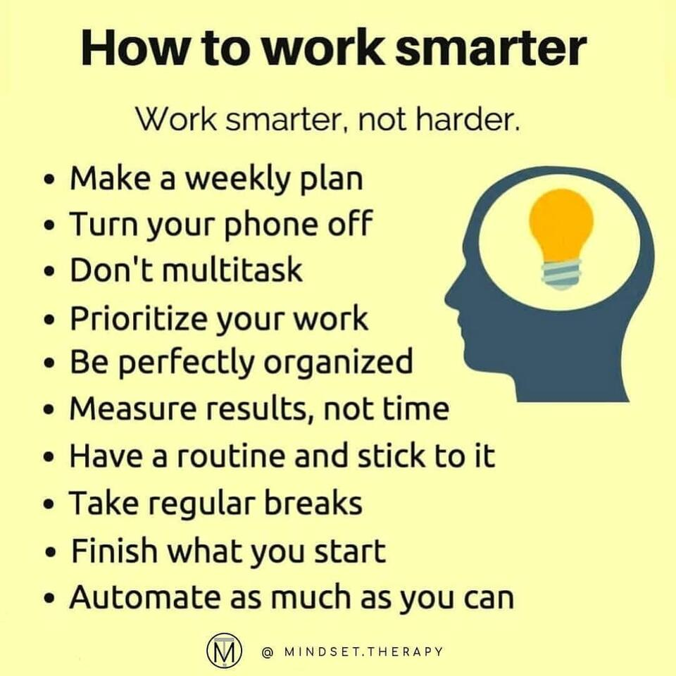 How to work smarter