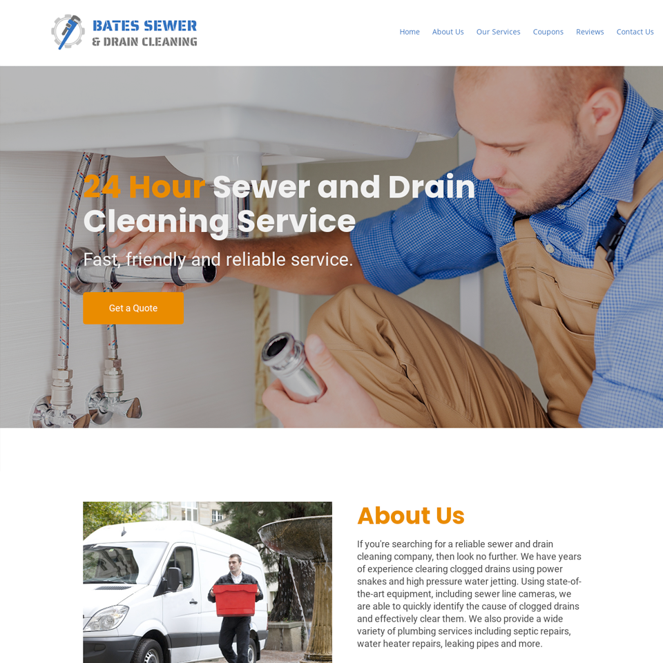 Sewer drain cleaning website theme