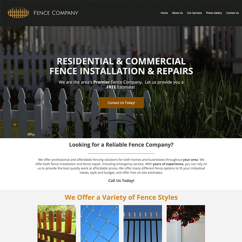 Fence company website design theme20171102 21770 1a8jmc0