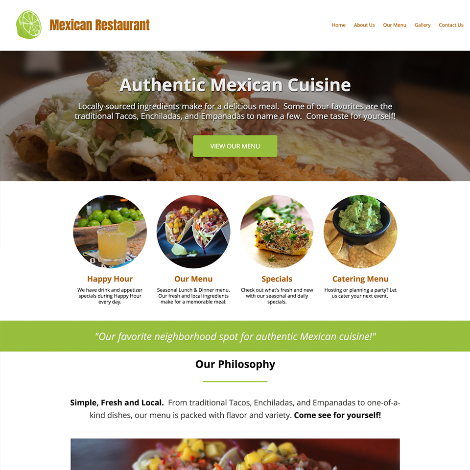 Mexican restaurant website design theme20171102 21770 1j4dilh
