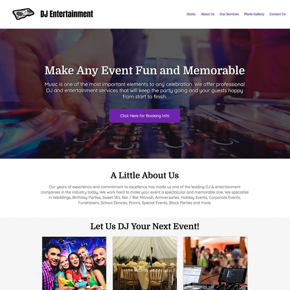Dj entertainment company website theme20180205 12848 4fvxqs