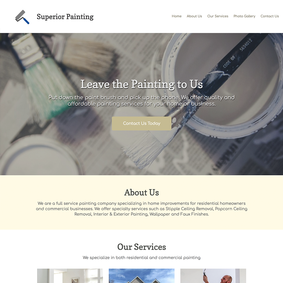 Painting company website design theme20180314 24380 ao7imt