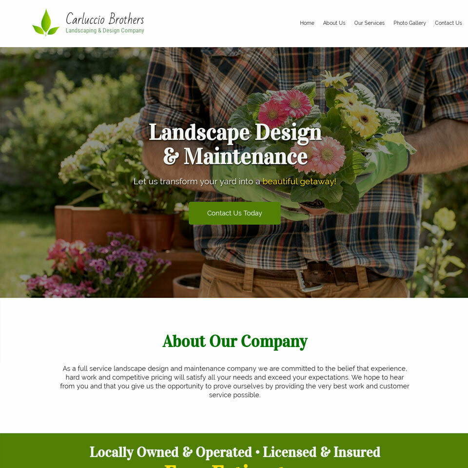 Landscaper website template