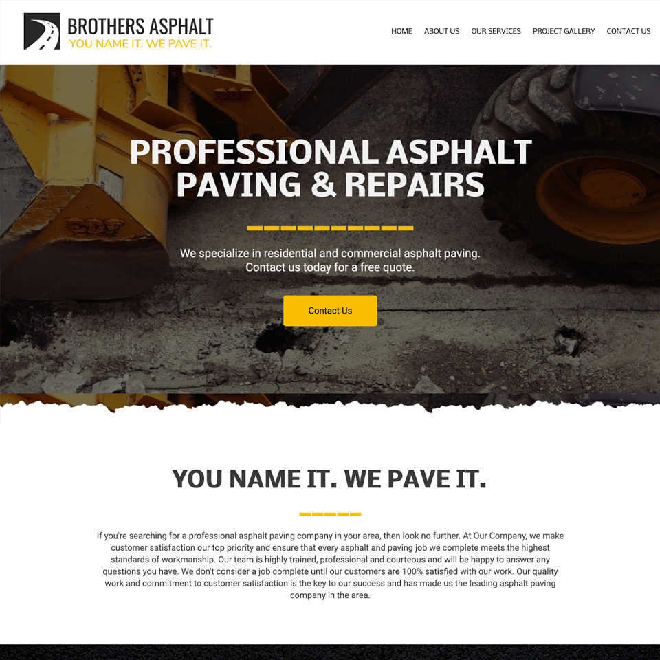Asphalt website theme