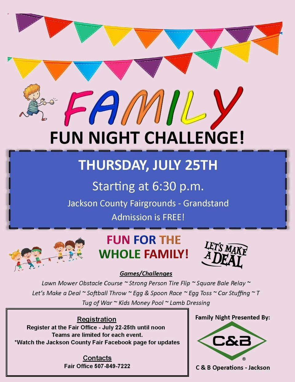 Family fun night challenge
