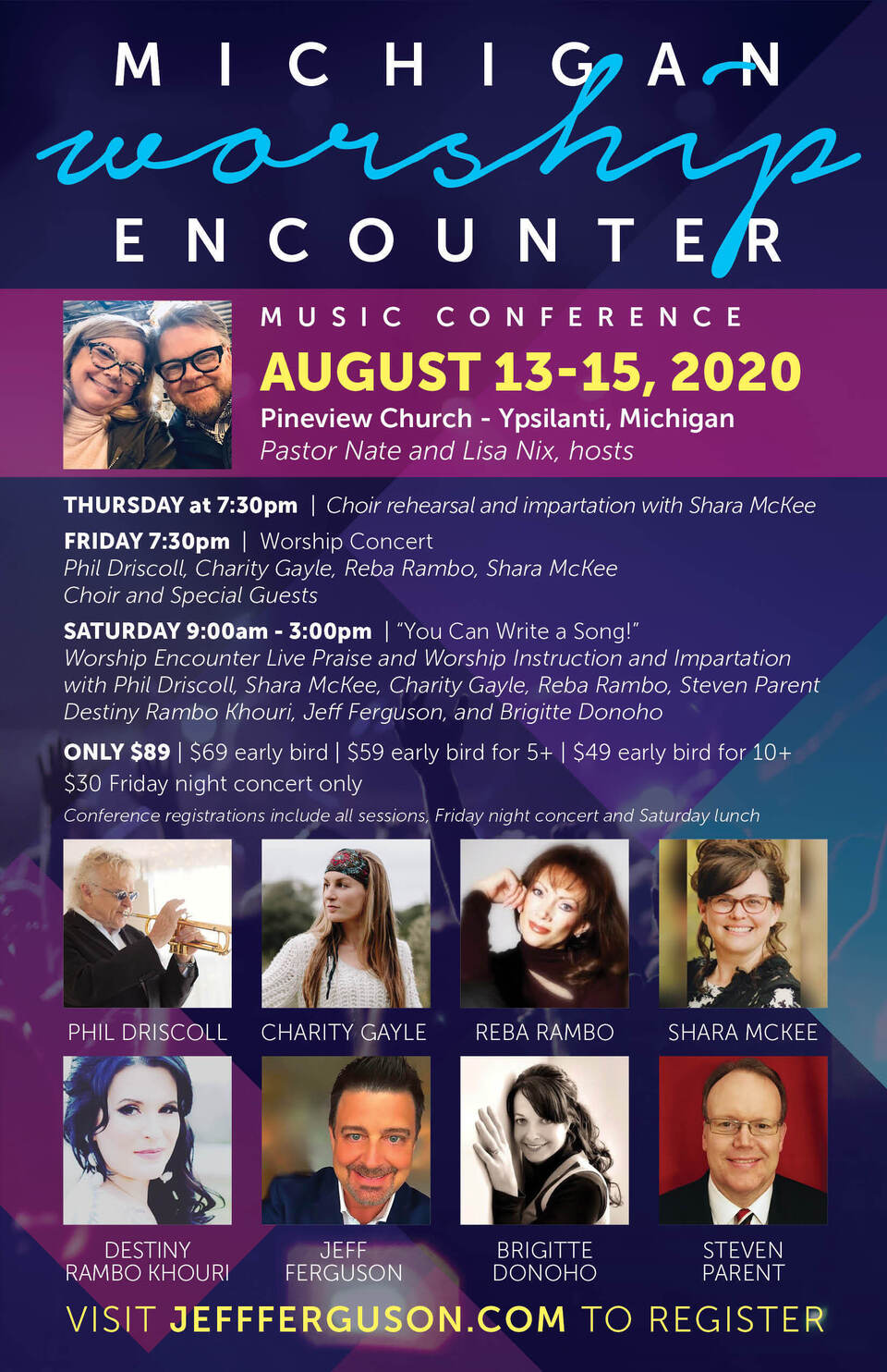 Michigan worship encounter flyer