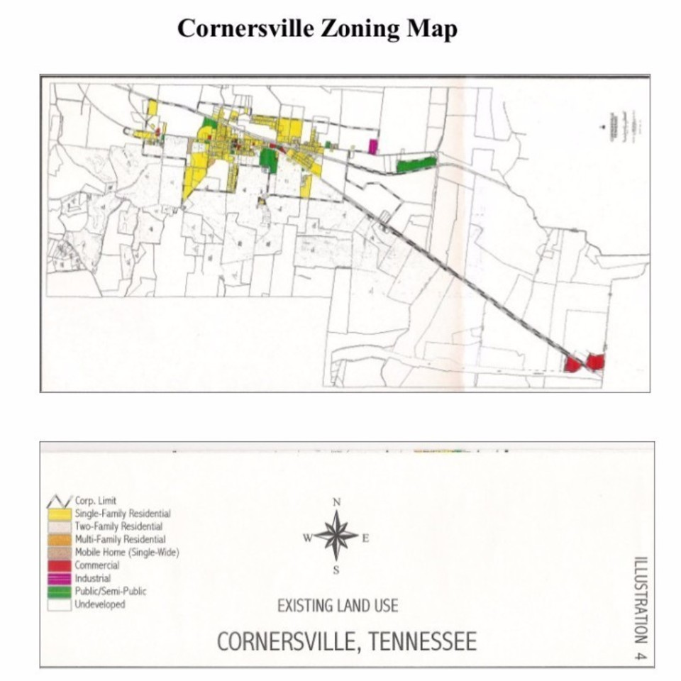 Maps Town Of Cornersville Cornersville Tn