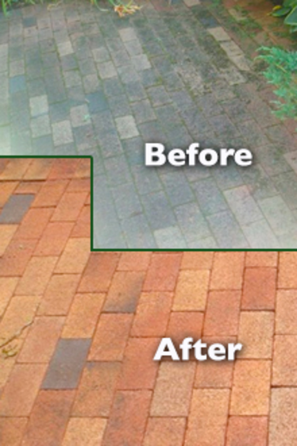 Long Island Brick & Walkway Cleaning Service - Go Green Clean Roof Cleaning Specialists Long Island NY