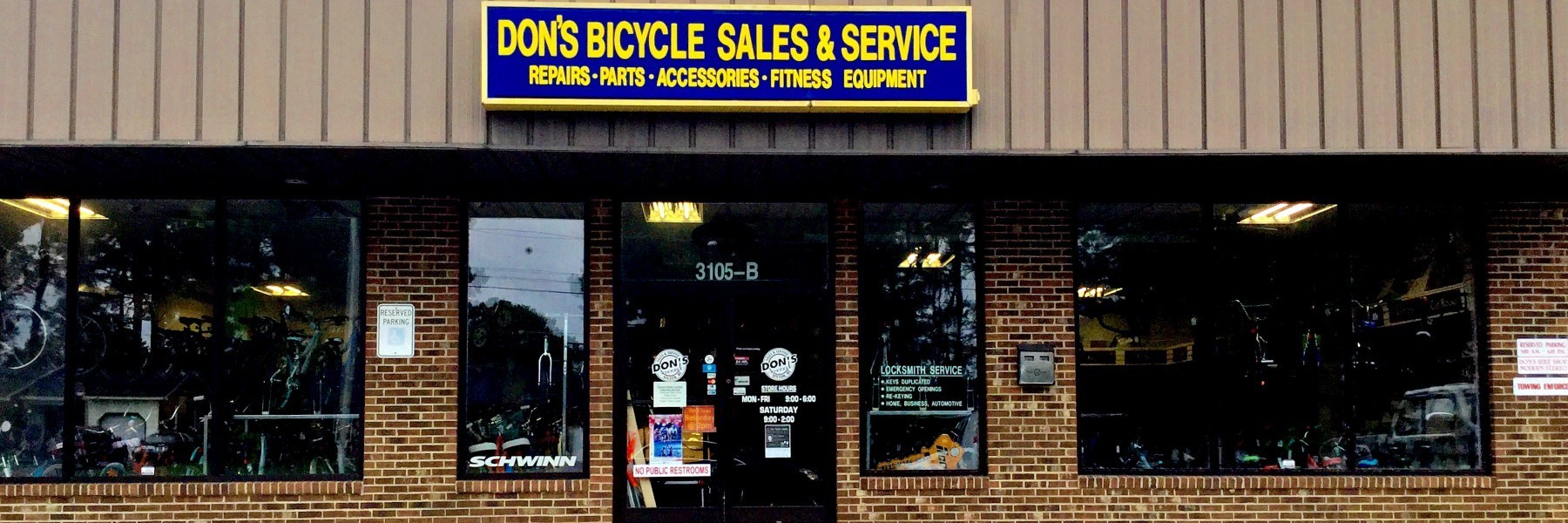 Don S Bicycle Sales Service Bicycle Repair Locksmith Services Wilson Nc