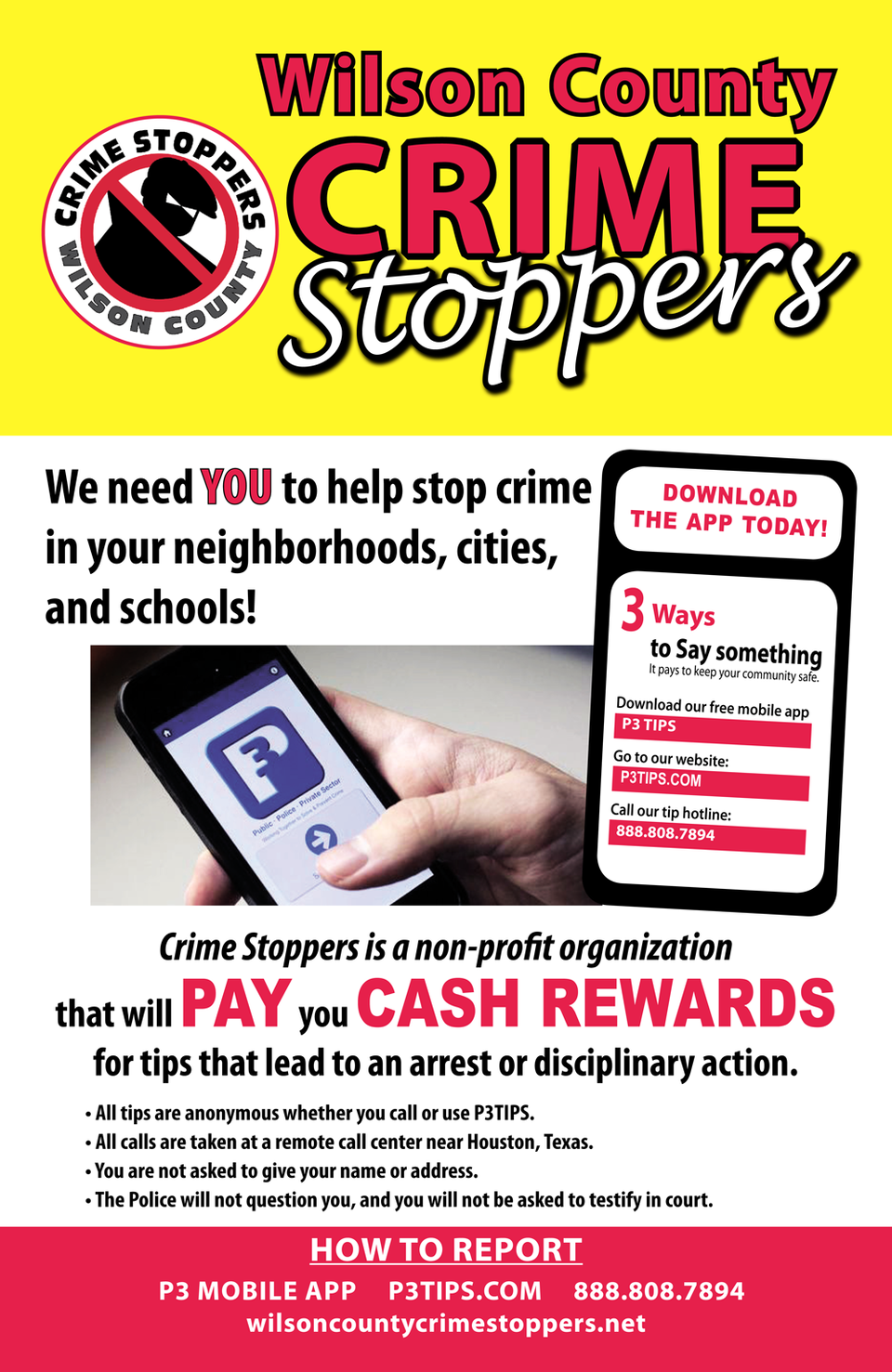 Crime stoppers poster
