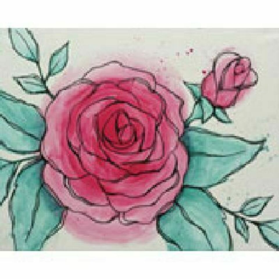 Watercolor rose 170 for rb