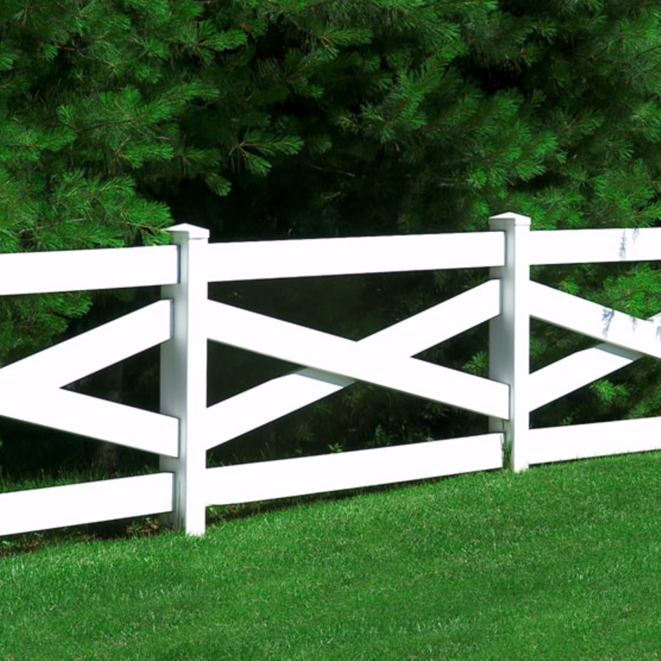 Midland vinyl fence   deck company   tulsa and coweta  oklahoma   vinyl metal wood fence sales and installation   ranch rail   vinyl white ranch rail fence with crossed rails20170609 5047 1o9exsm