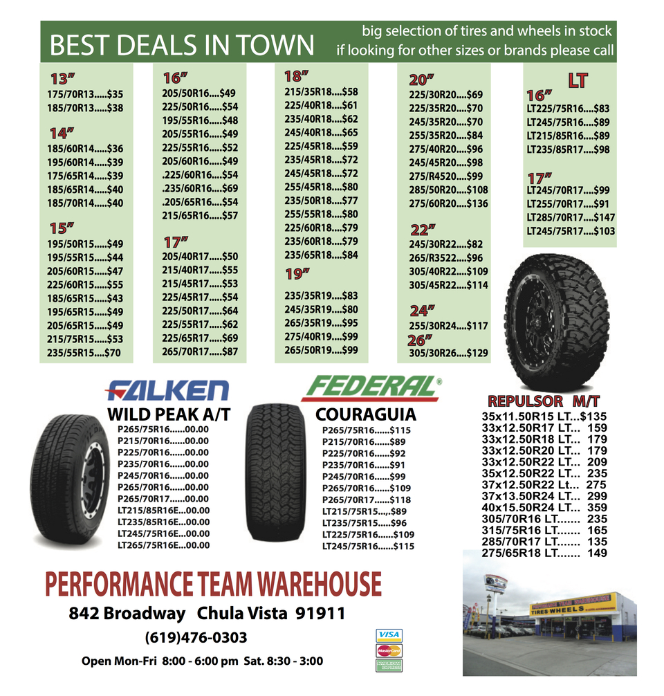 CURRENT TIRE PROMOTIONS