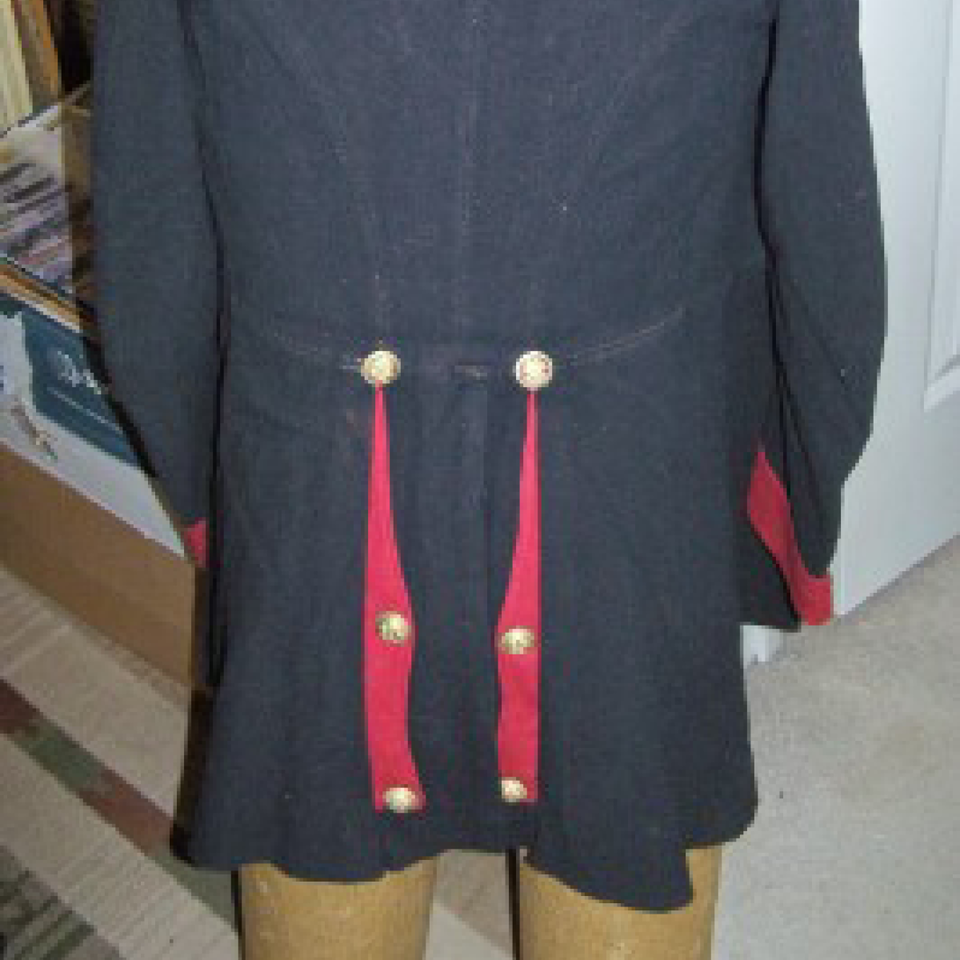 M1881 horse artillery soldier's frock coat files520170913 23345 qpdnn3
