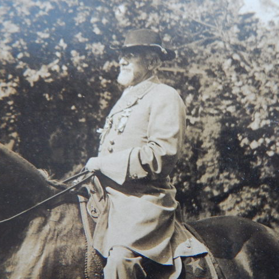 Albumen  confederate colonel heiskell on horseback ucv files620170915 6035 1s2uops
