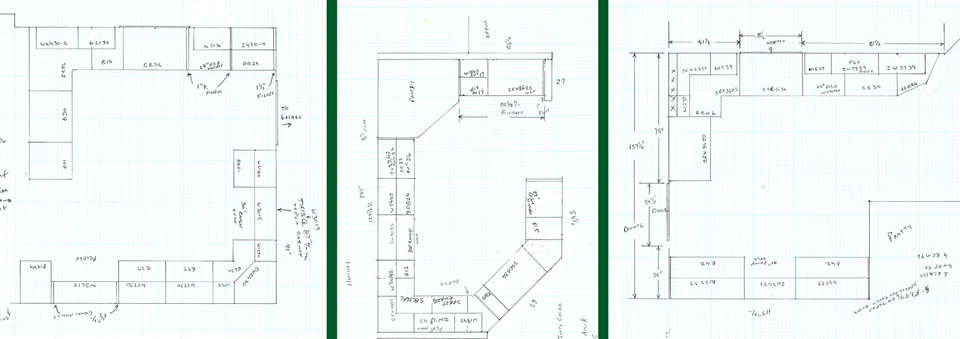 CRAIG'S CABINETS Hand Drawn Plans - Personalized Attention