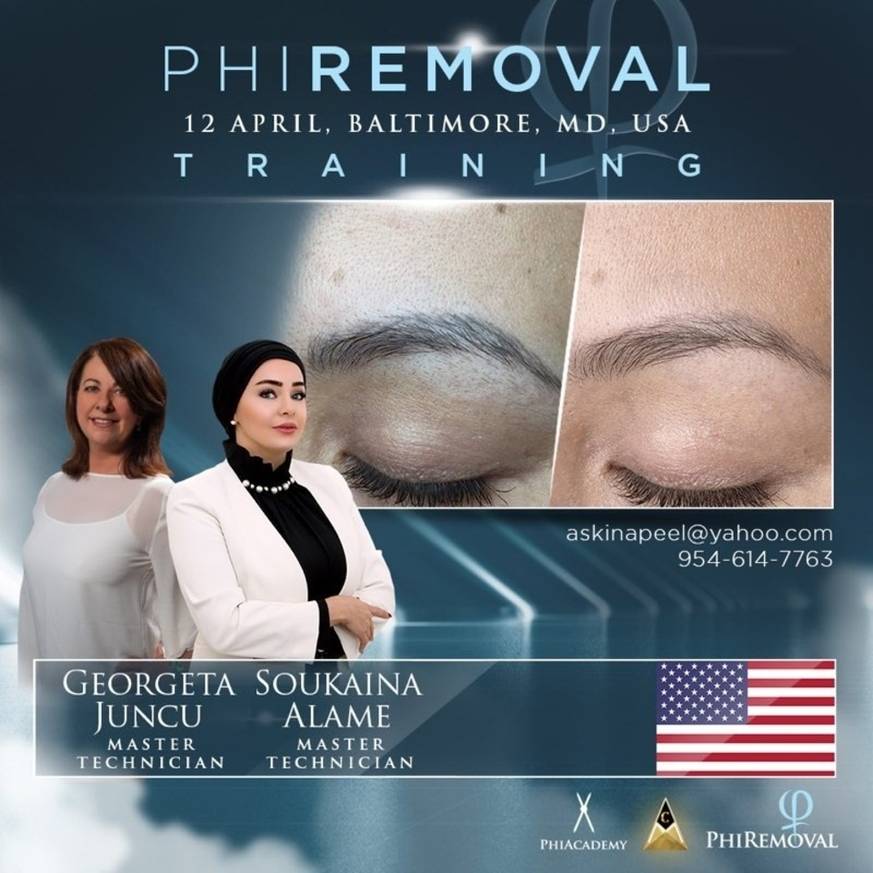 PhiRemoval Training on April 12th in Baltimore Maryland with Master Technicians Georgeta Juncu and Soukaina Alame