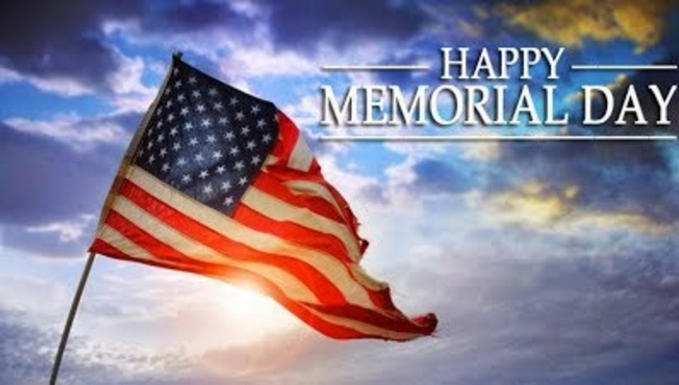 Have a happy Memorial Day weekend!