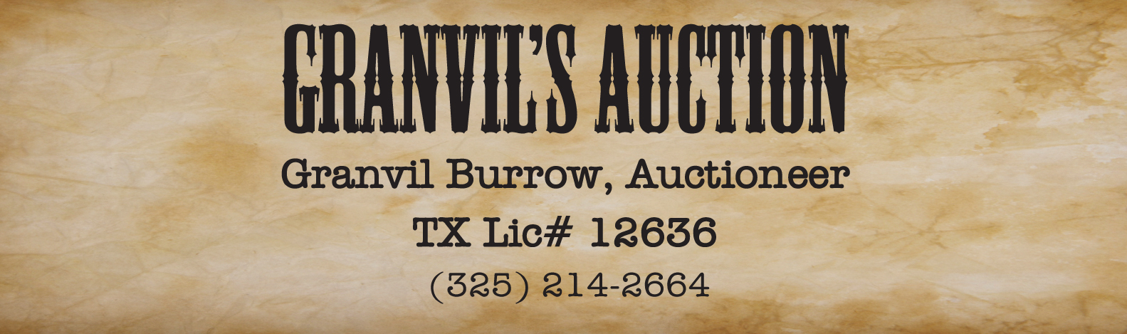 Granvil's Auction