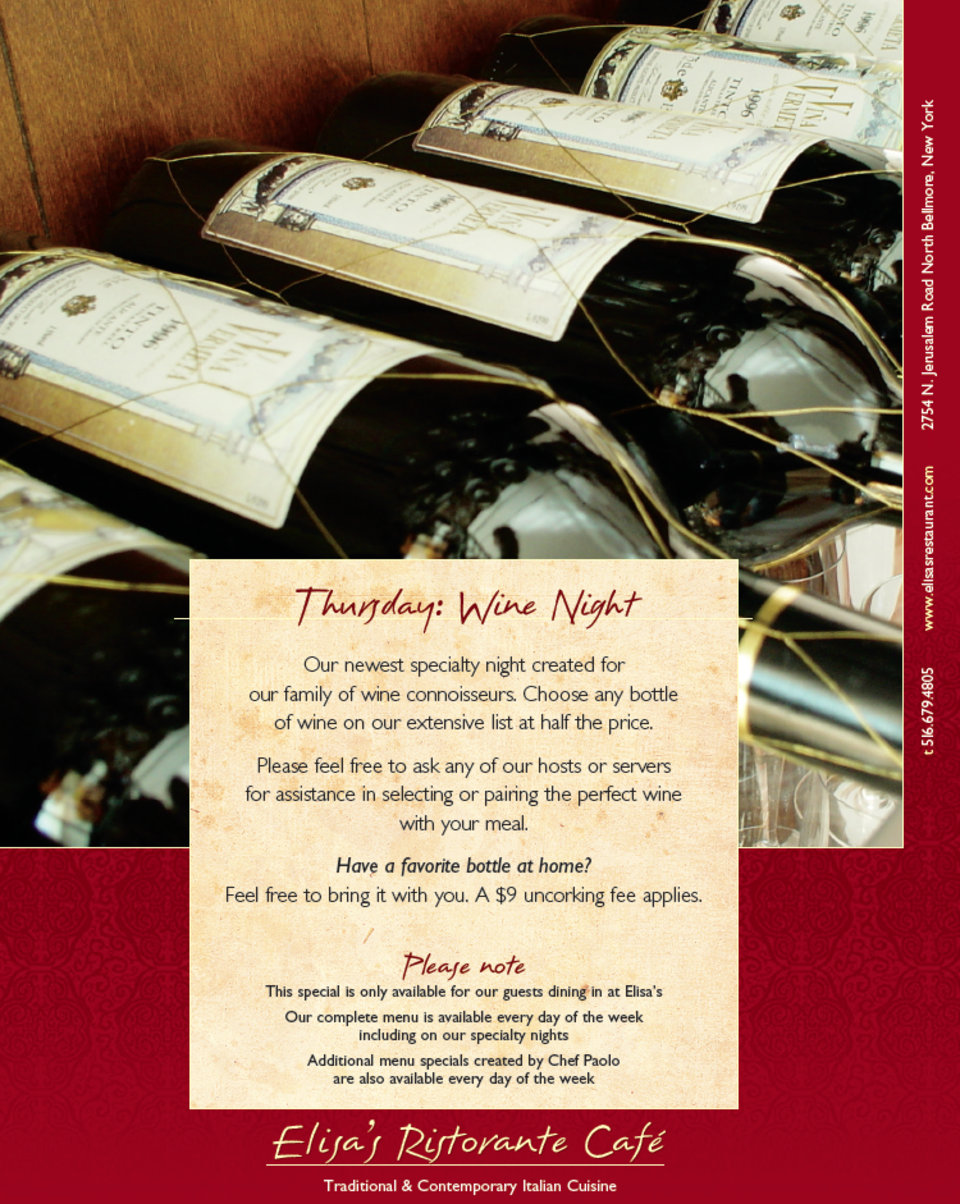 Thursday: Wine Night