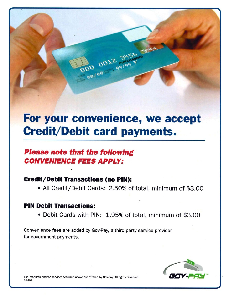 Credit/Debit Card Processing
