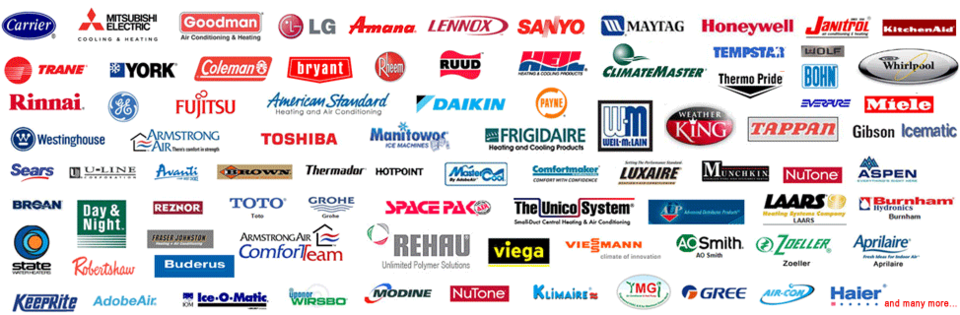 Some of the Brands we Service and Install