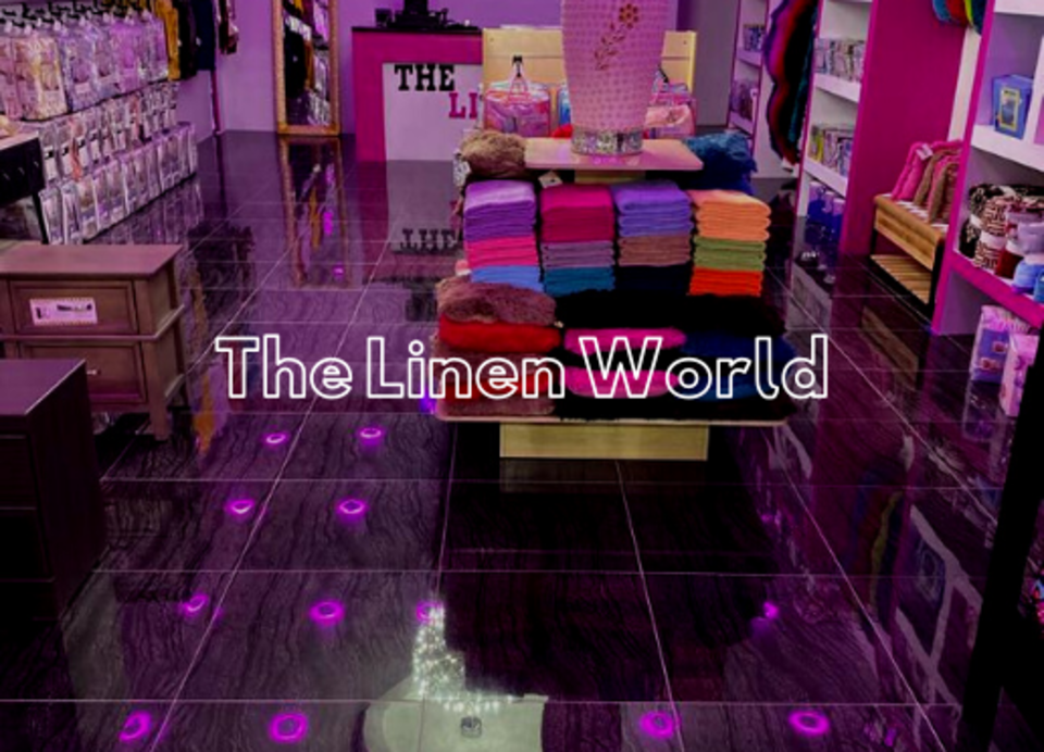 The linen world logo