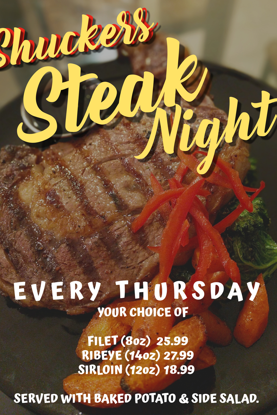 Copy of steak night flyer