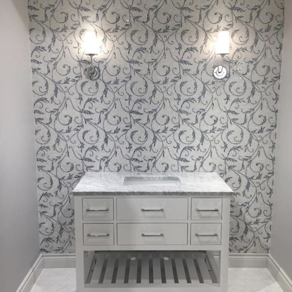 Floral walls white silk base and floors 960x960