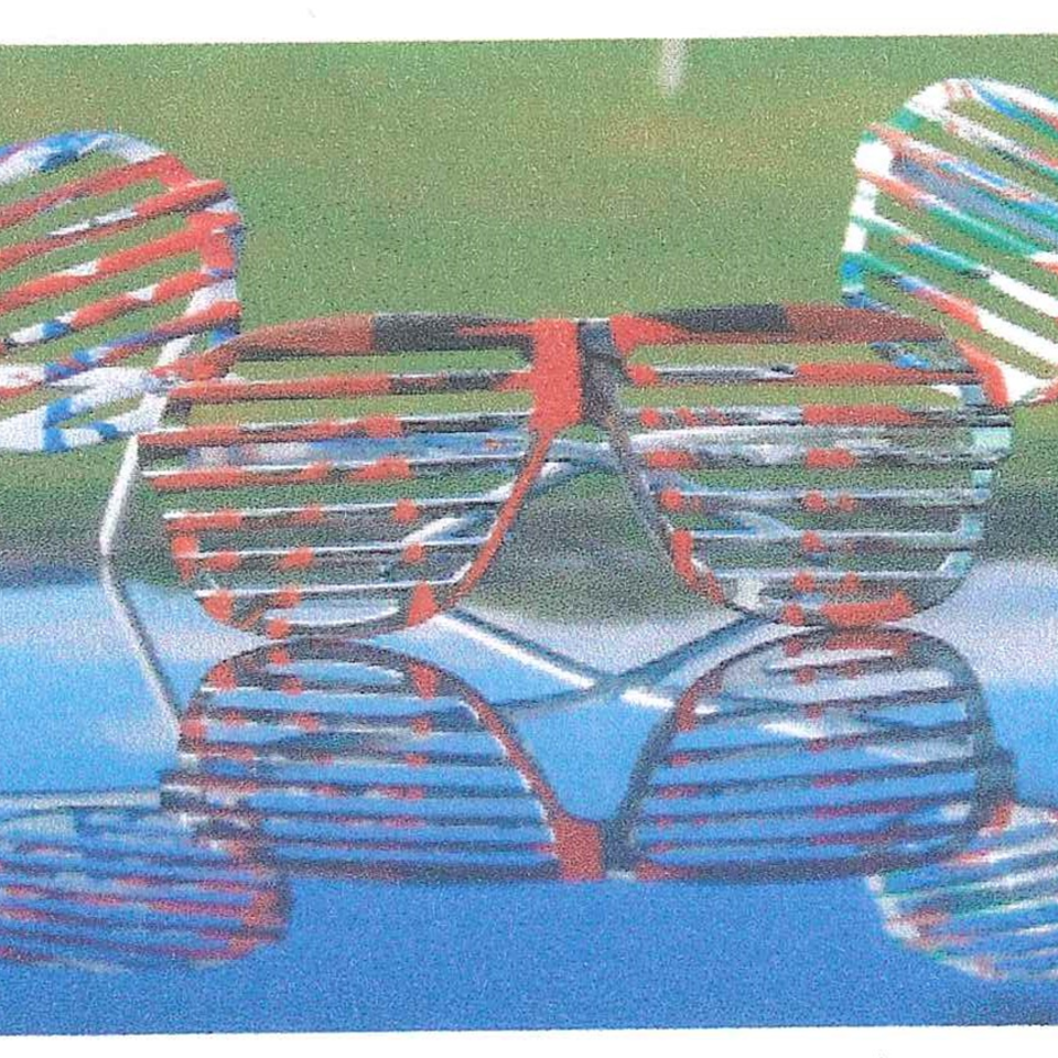 Spin art glasses
