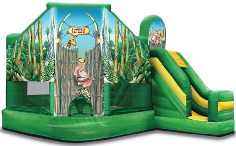 Jungle island bounce and slide