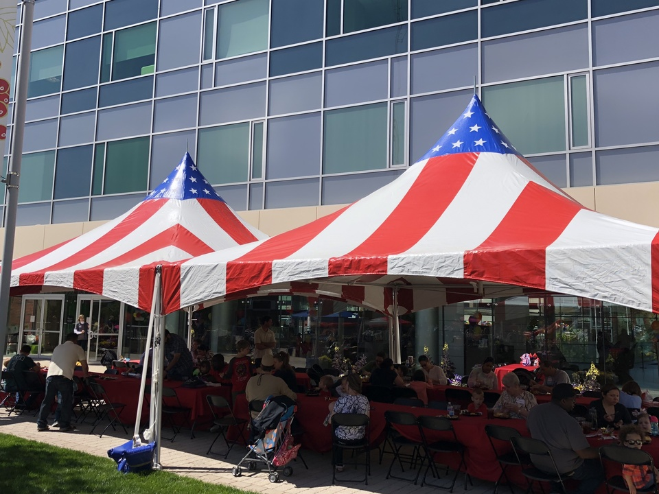 Tents red white blue 2