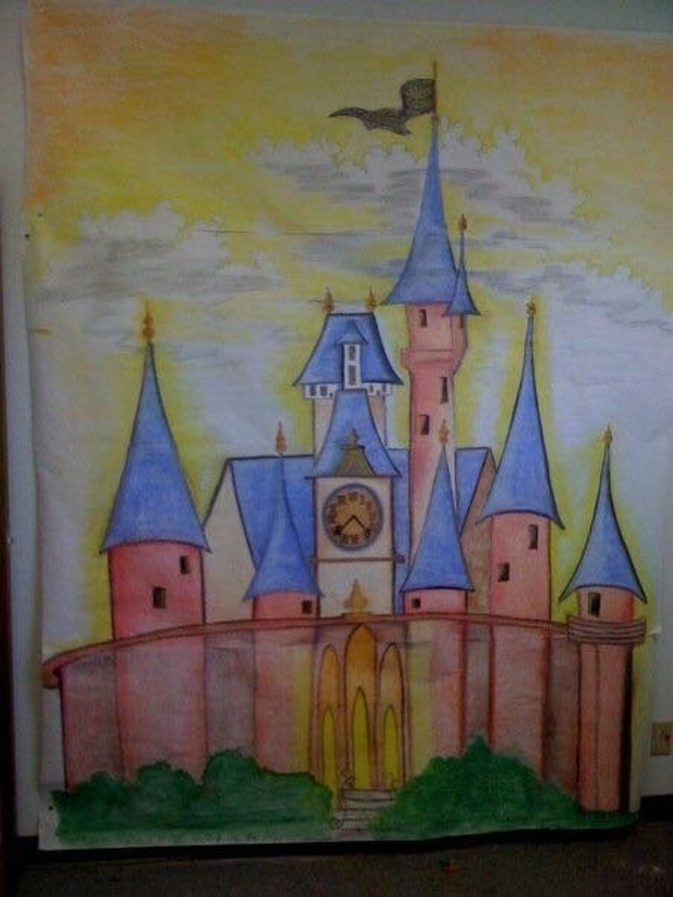 Timeless painting by renee   custom painting   faux finishing   tulsa oklahoma   completed large children's mural on canvas princess castle for birthday photos 1