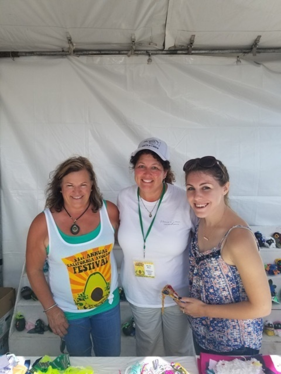 Judges of theBest Dressed Avocado ContestBeth Schmohr - local Artist , Sheila Hess- Children's Venue Chair and Emily Crosby - 2017 Poster Design Winner