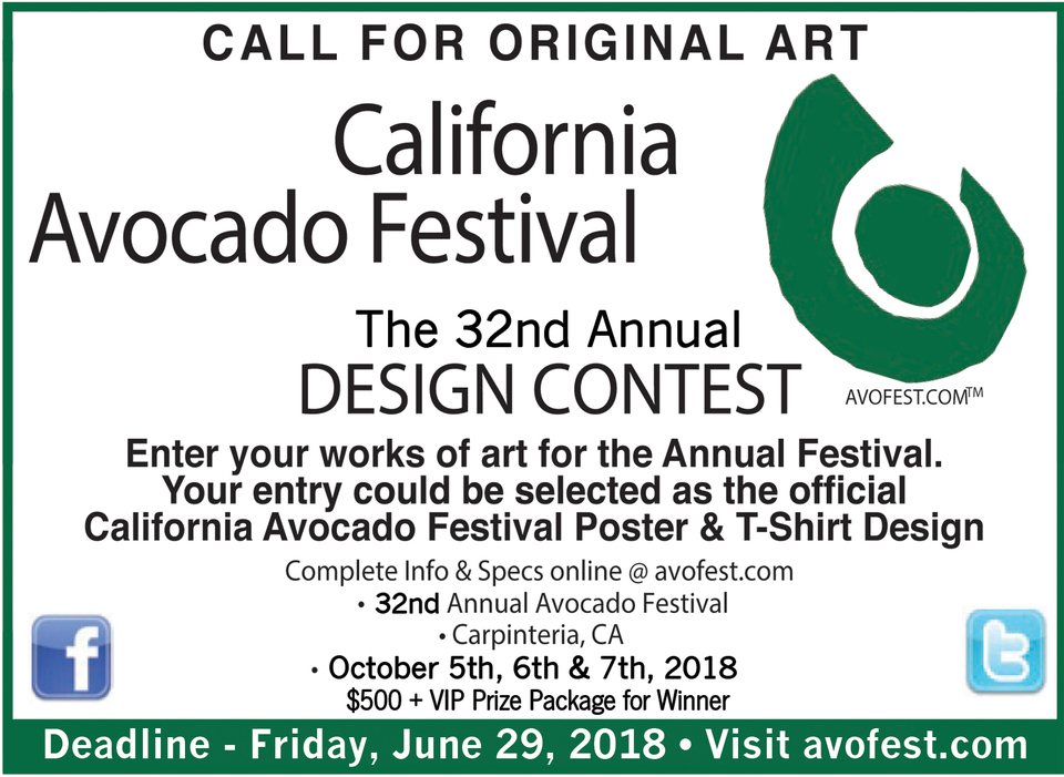 Enter the 32nd Annual California Avocado Festival® Design Contest