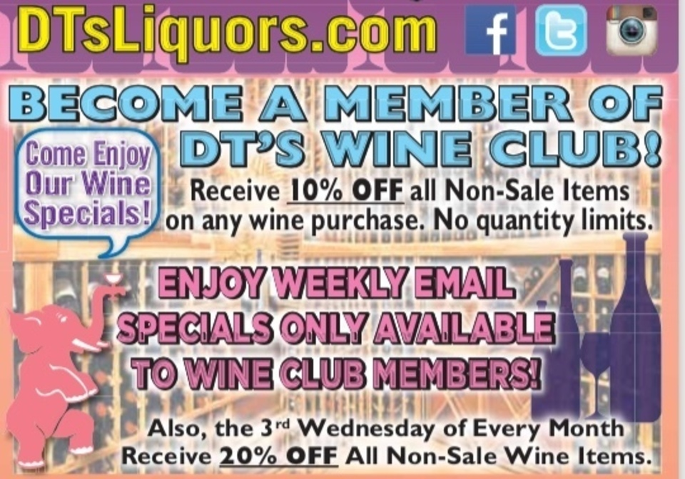 Benefits of becoming a wine club member!!