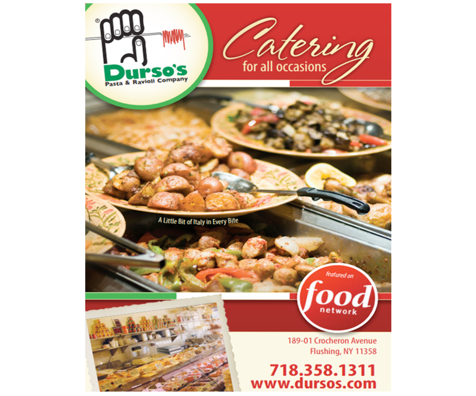 Dursos catering menu