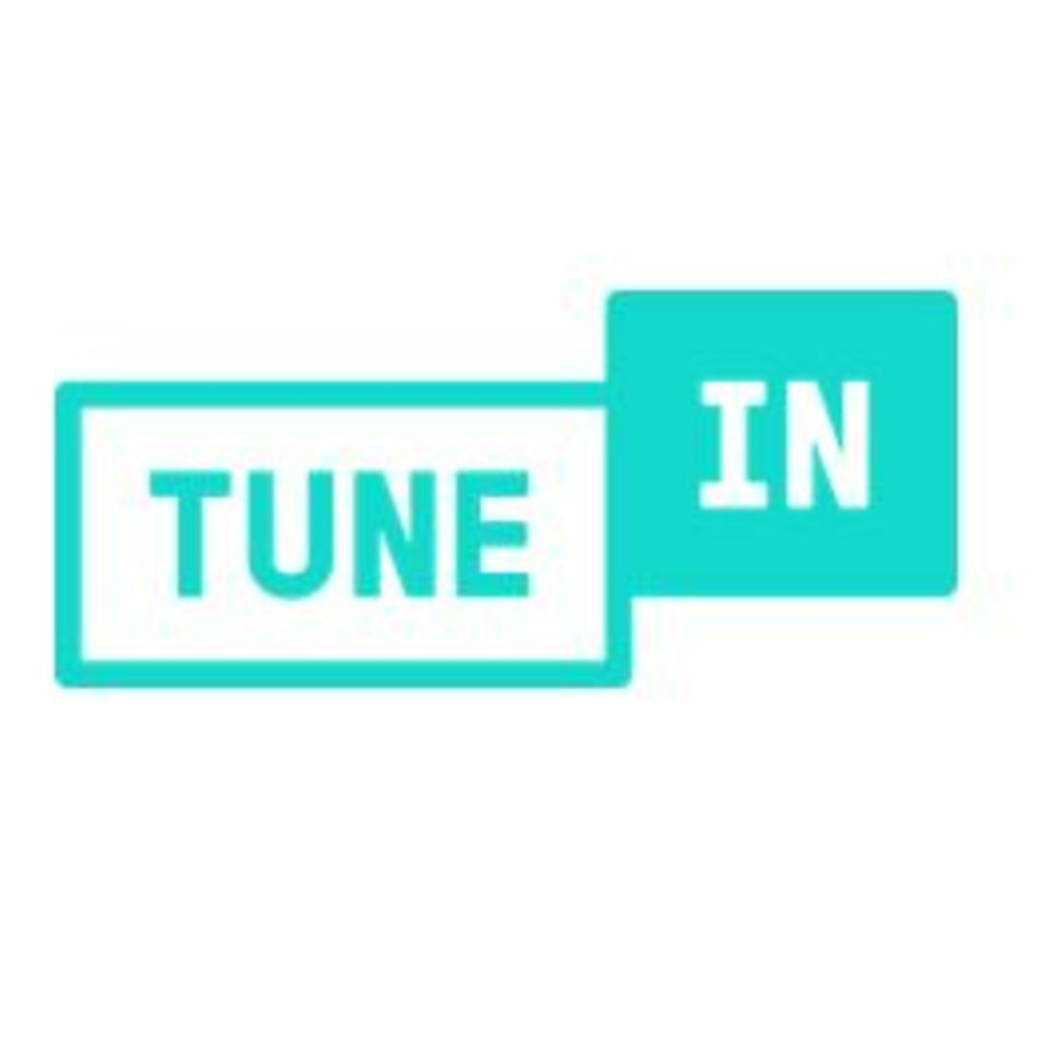 Tune in logo on white