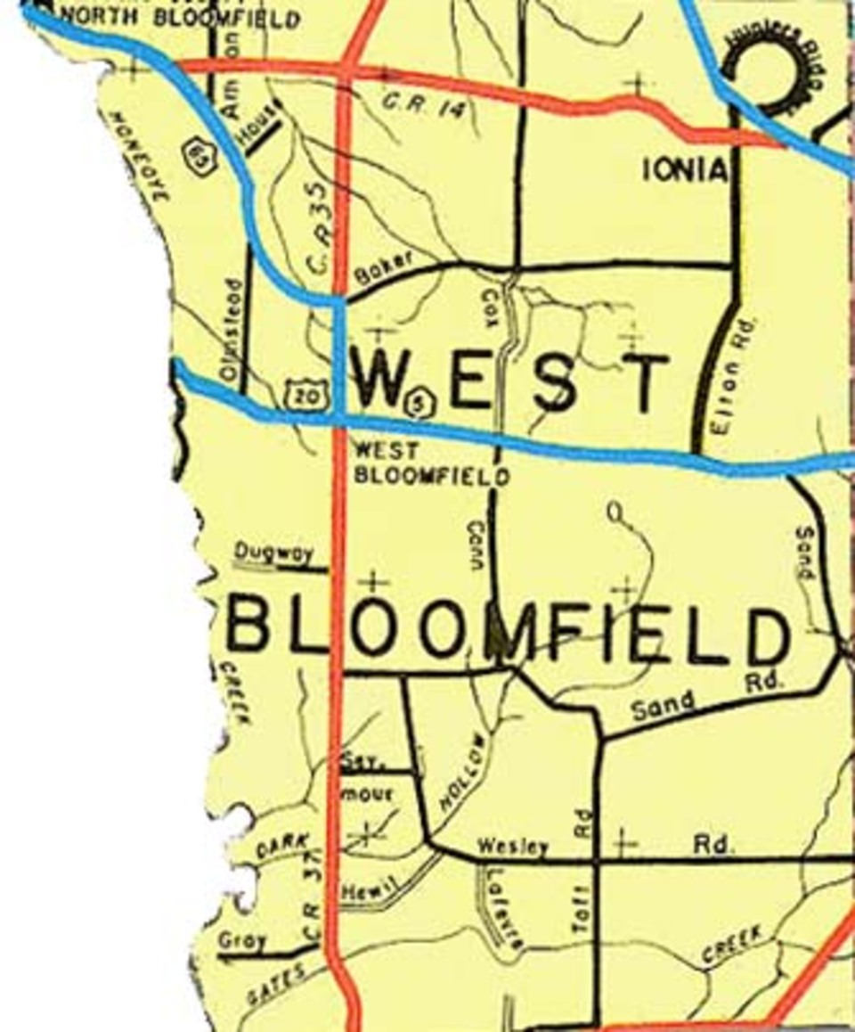 West bloomfield map 1