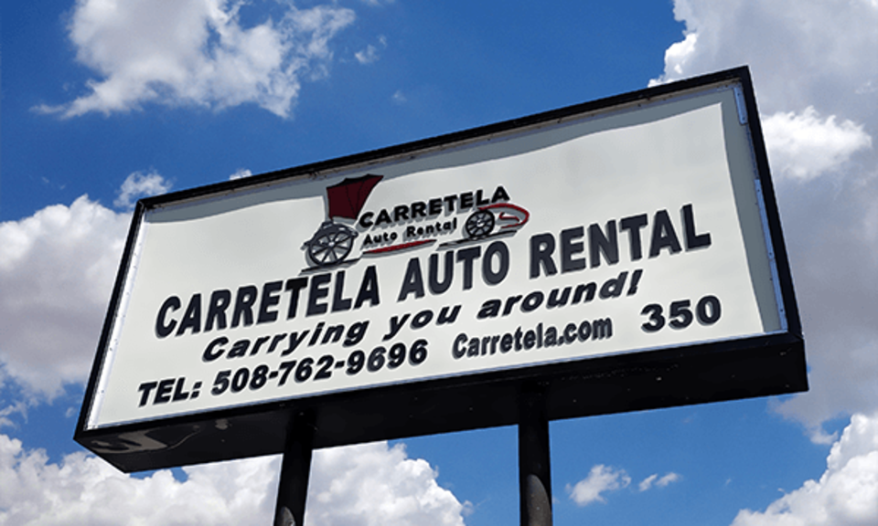 Carretela sign clouds crop