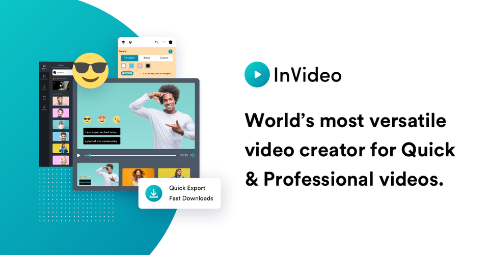 Invideo   online video editor   make professional videos logo
