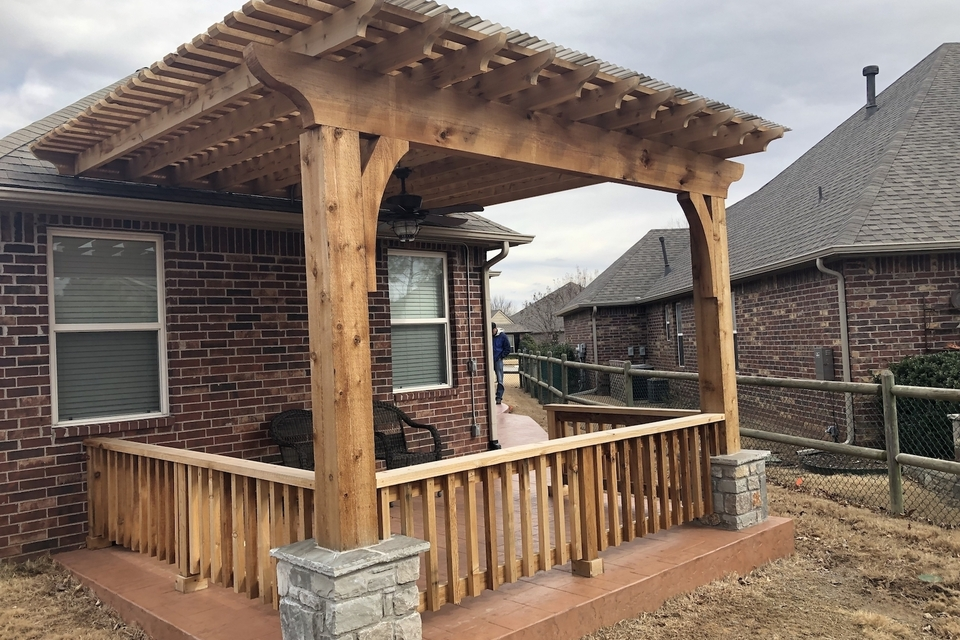 Select outdoor solutions  tulsa oklahoma  outdoor living pergolas shade structures  covered cedar pergola contractor builder construction company  photo jan 28  12 29 44 pm