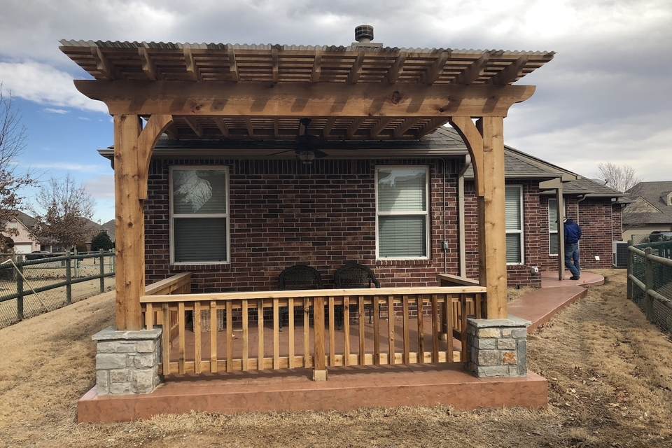 Select outdoor solutions  tulsa oklahoma  outdoor living pergolas shade structures  covered cedar pergola contractor builder construction company  photo jan 28  12 29 56 pm