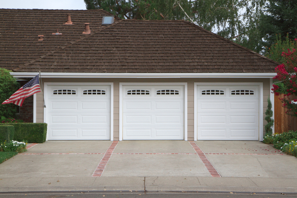 Bigstock beige three ar garage with whi 16539434