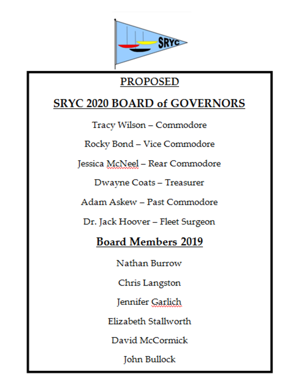 Sryc 2020 board of governors