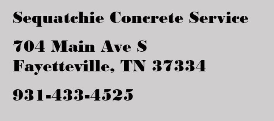Sequatchie Concrete