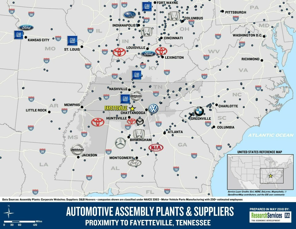 Automotive assembly plants   suppliers