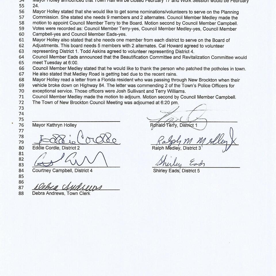 February 3  2020 council meeting page 2