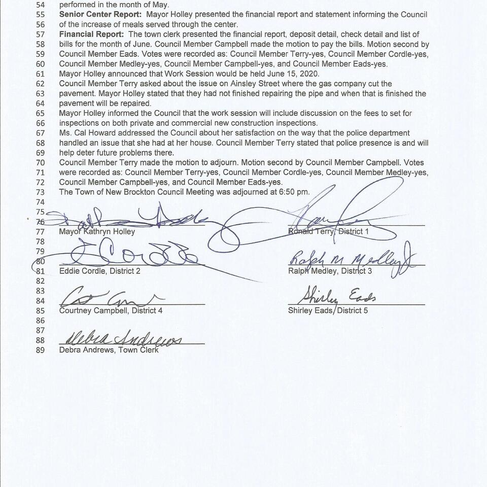 Council meeting june1  2020 page 2